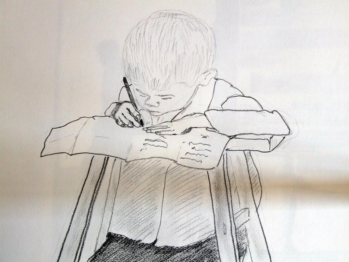 sketch crayon