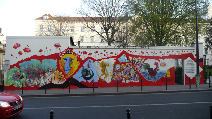 Carré de Baudouin wall (Paris 20th)
