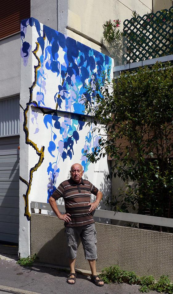 Fresque Majorelle rue du Retrait