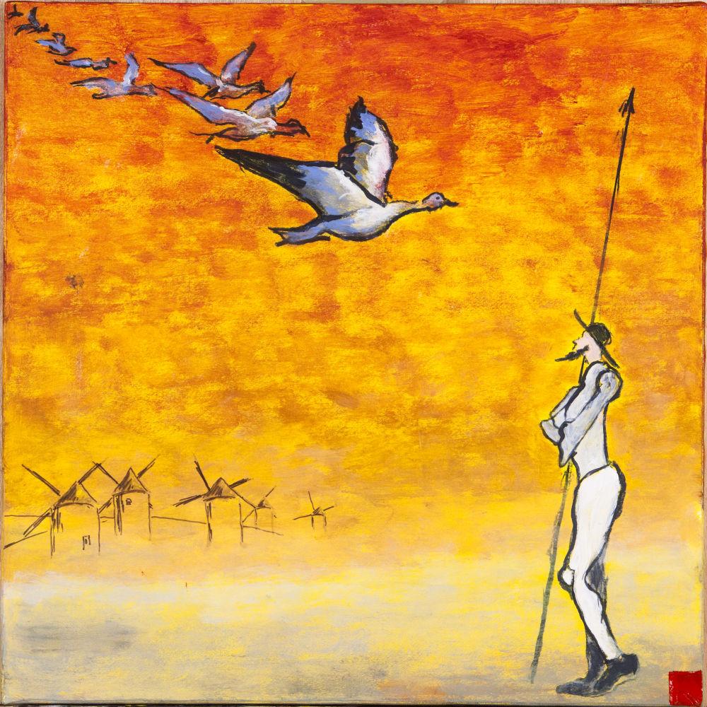 2019-1 Hommage à Cervantes 16, huile sur toile, 50x50 cm