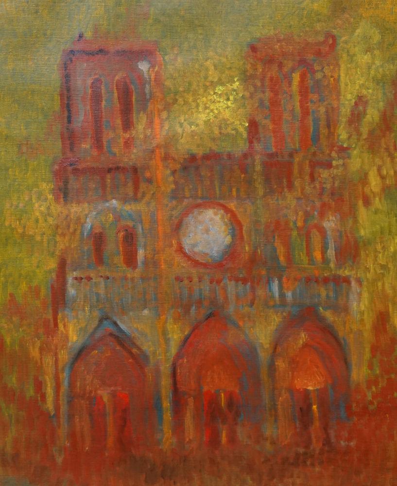 2020-20, Notre Dame 10, Huile sur toile, 65x50 cm