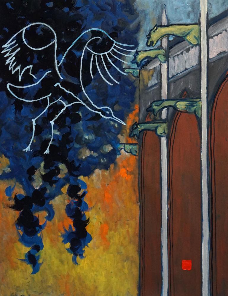 2020-32, Notre Dame 22, Huile sur toile, 65x50 cm