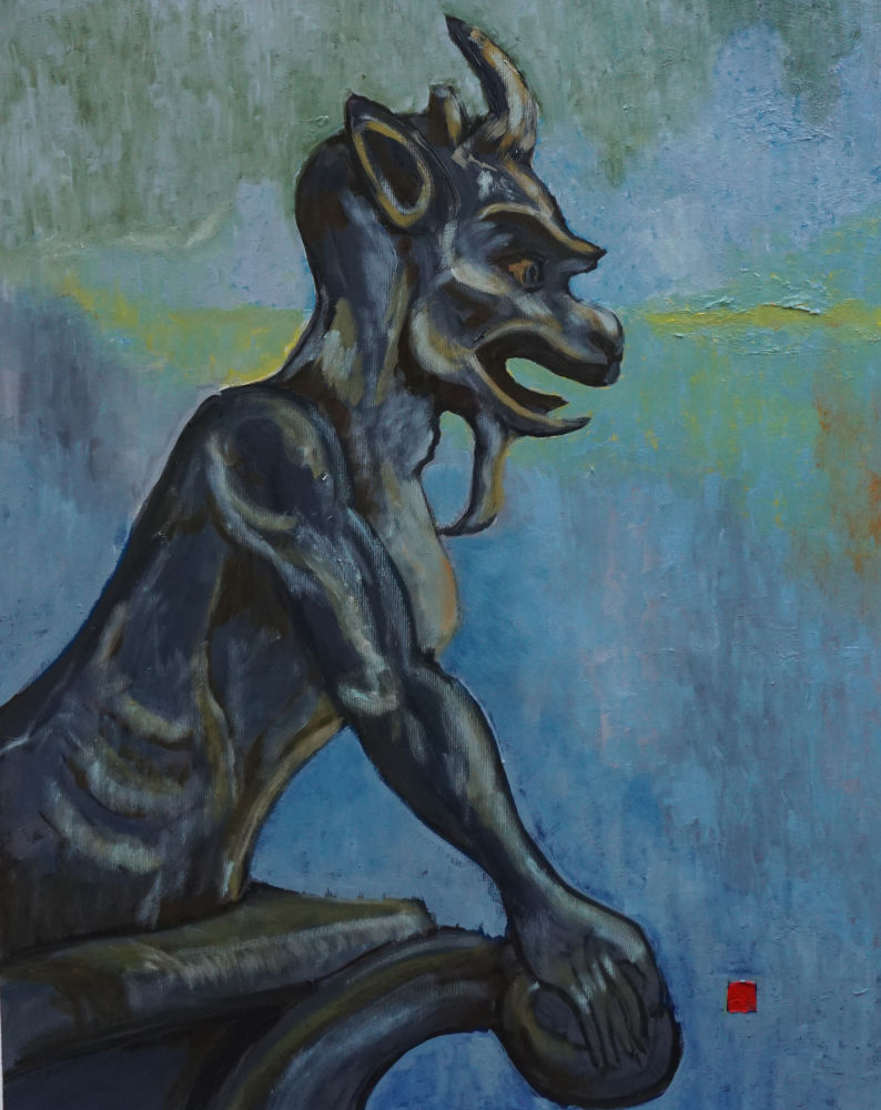 2020-40, Notre Dame 30, Huile sur toile, 65x50 cm